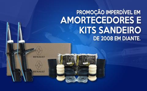 Banner Mobile Promoção Amortecedores e Kits Renault Sandero